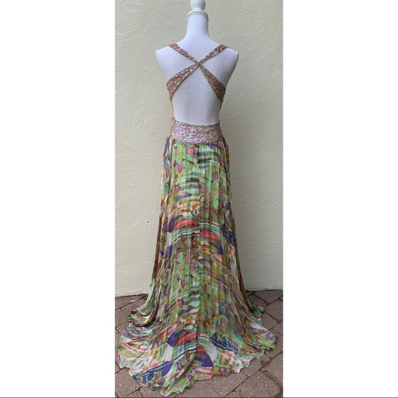 Jovani Dresses & Skirts - JOVANI Beaded BACKLESS EVENING Cocktail PROM Dress